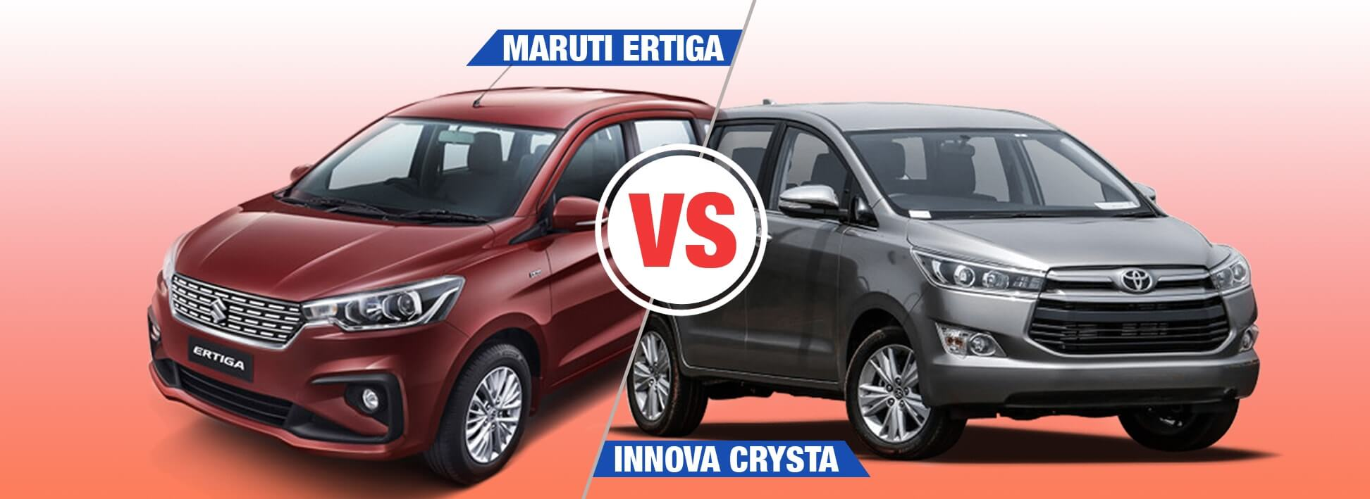 Maruti Suzuki Ertiga 2018 Vs Toyota Innova Crysta Comparison - Interior, Exterior, Specification, Price