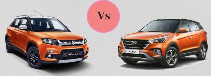 Comparison between Maruti Suzuki Vitara Brezza and Hyundai Creta