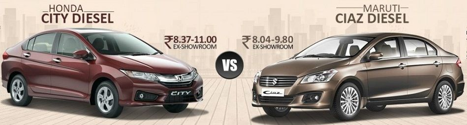Comparison between Maruti Suzuki Ciaz and Honda City
